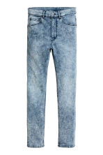 Skinny Regular Jeans - Denim blue/Acid - Men | H&M 2